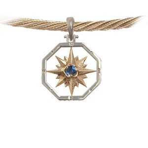 Compass Rose with Sapphire