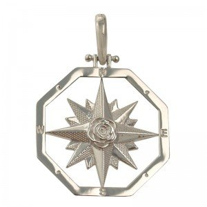 Compass Rose Silver