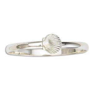 Bangle Bracelet with Scallop Shell