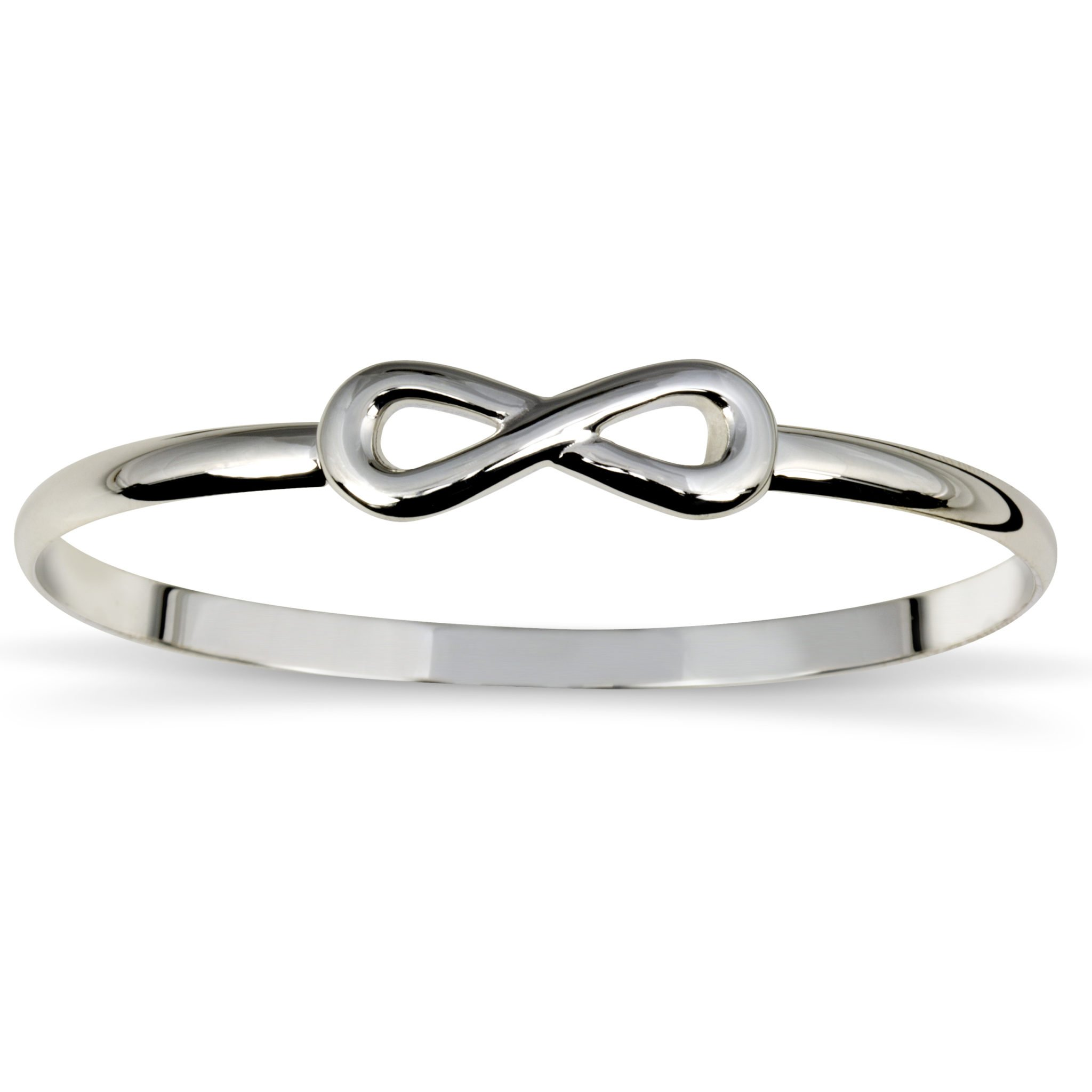 bangle bracelet with infinity symbol king jewelers