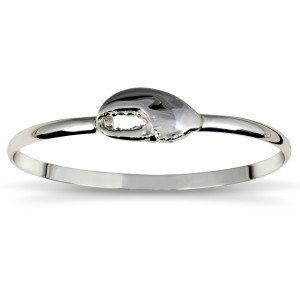 Bangle Bracelet with Lobster Claw