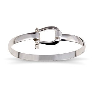 Bangle Bracelet with Shackle Clasp