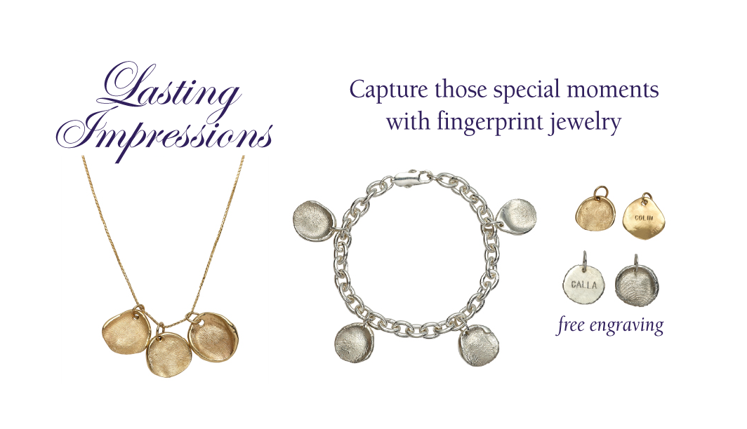 Lasting impressions fingerprint jewelry captures memories for Fingerprint jewelry by first impressions