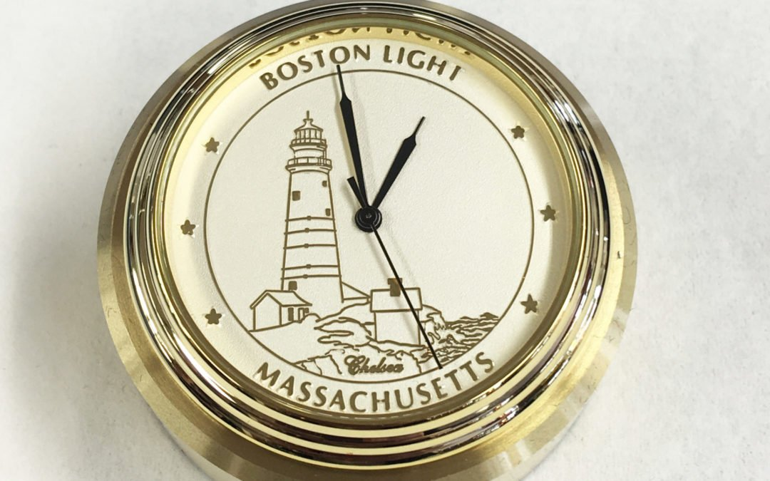 Custom Dial Lighthouse Paperweight Clock
