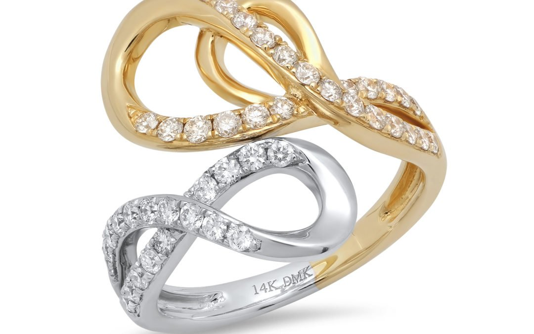 Linking Loops Diamond Ring