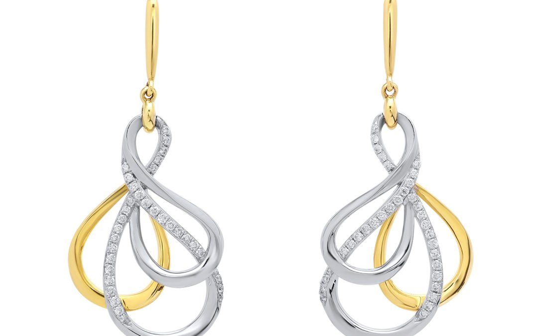 Linking Loops Diamond Dangle Earrings