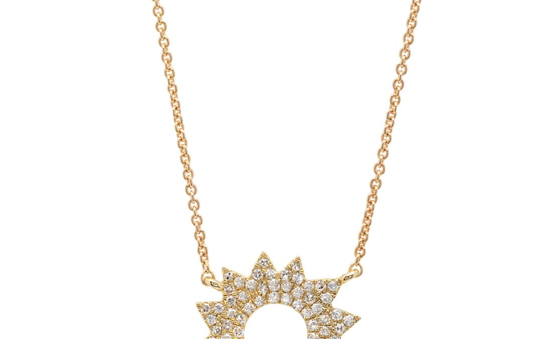 Diamond Sunburst Necklace