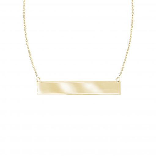 Image of a gold chain with a gold bar sold by King Jewelers in Cohasset, Massachusetts