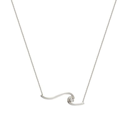 Image of silver chain with ocean wave necklace sold by King Jewelers in Cohasset, Massachusetts